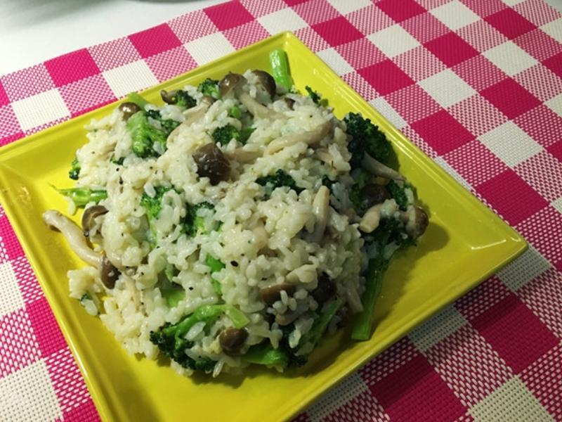 豆漿野菇燉飯