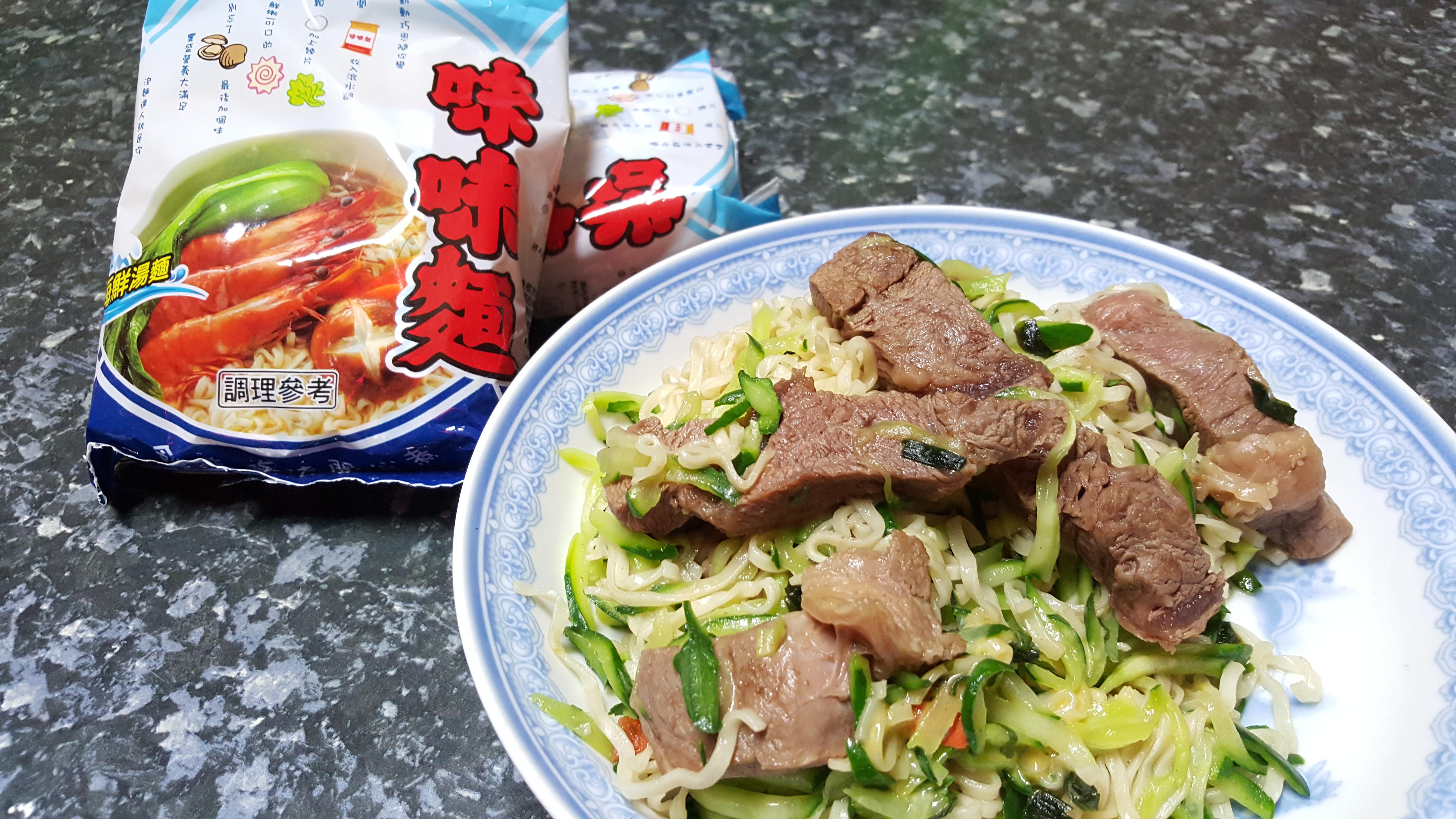 起司牛肉炒泡麵-記憶中的味味麵