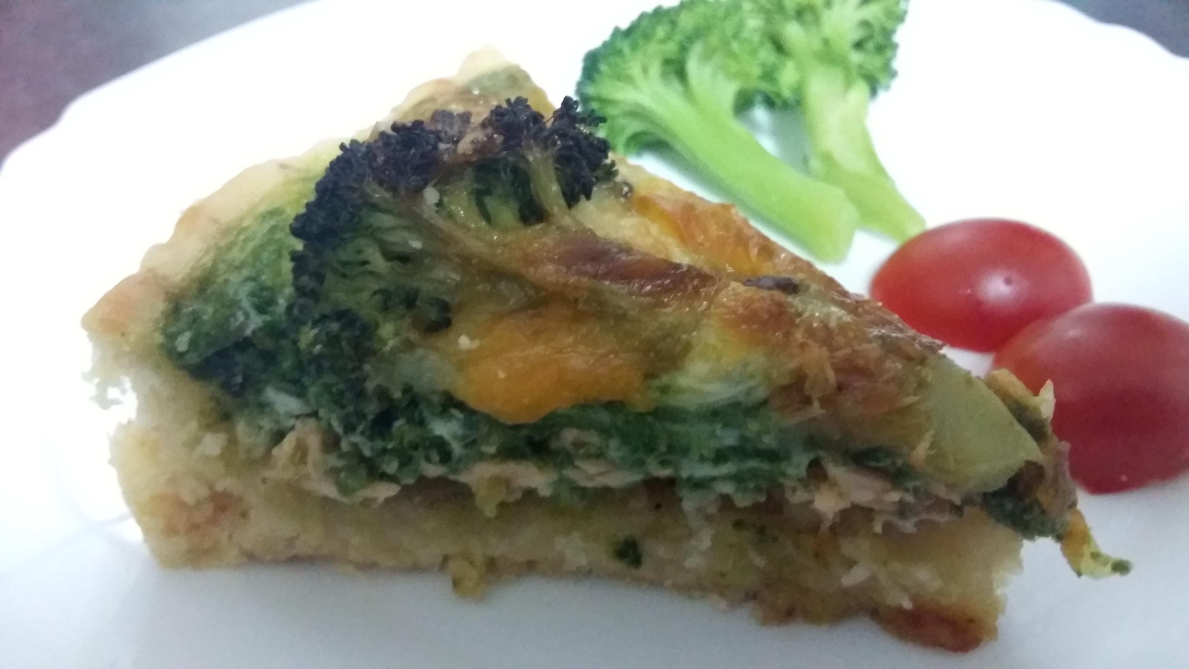 菠菜鮭魚鹹派(鬆餅粉)