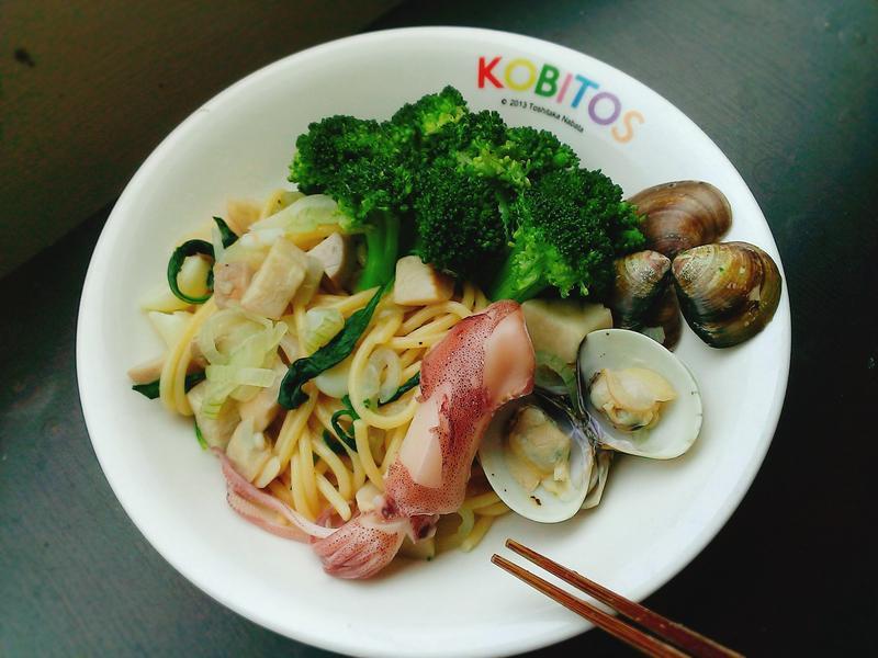 台灣洋蔥很「辣」之【清炒海味義大利麵】