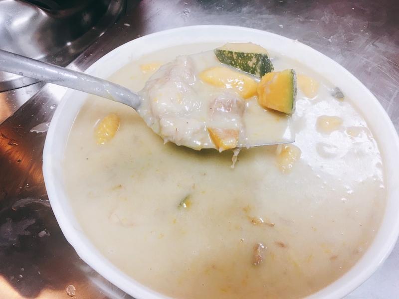 椰汁芋頭南瓜煲