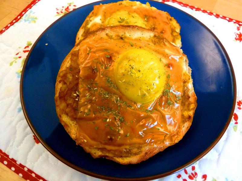 《永新沙拉》咖裡洋蔥太陽蛋貝果~蛋奶素