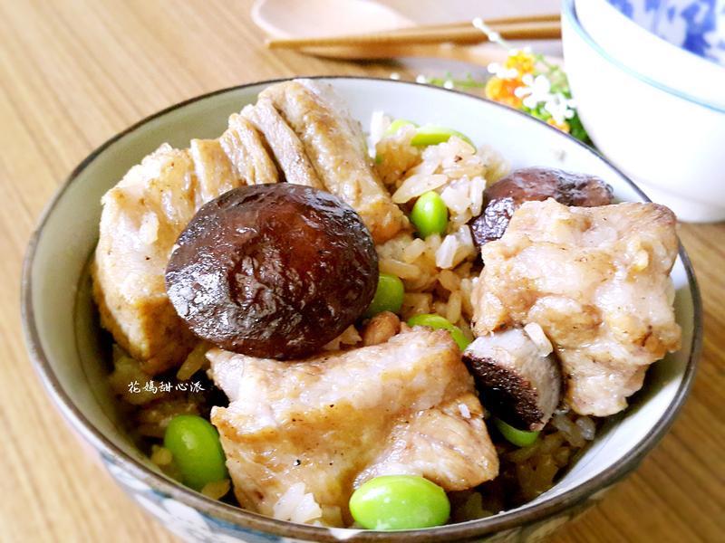 香菇毛豆排骨燜飯
