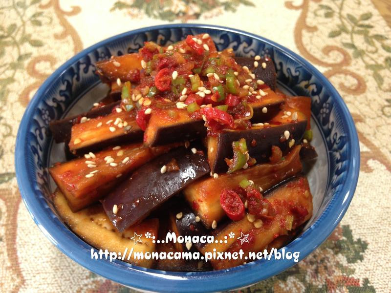 韓式涼拌茄子가지무침