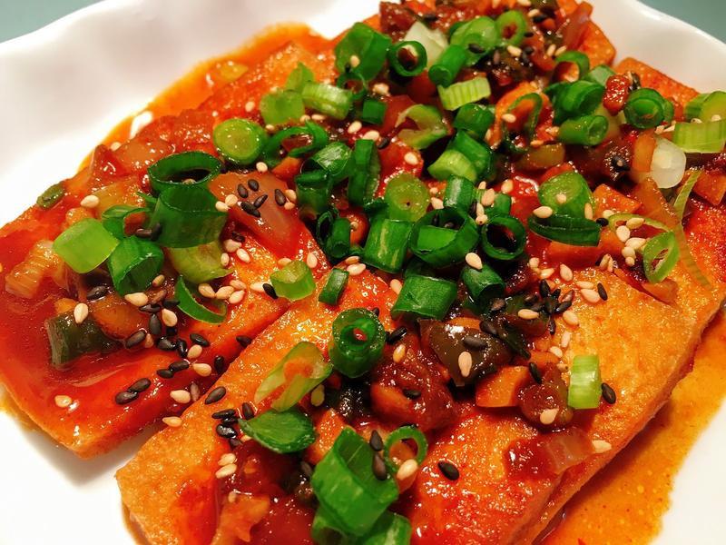 超下飯! 韓式辣醬燉豆腐두부조림