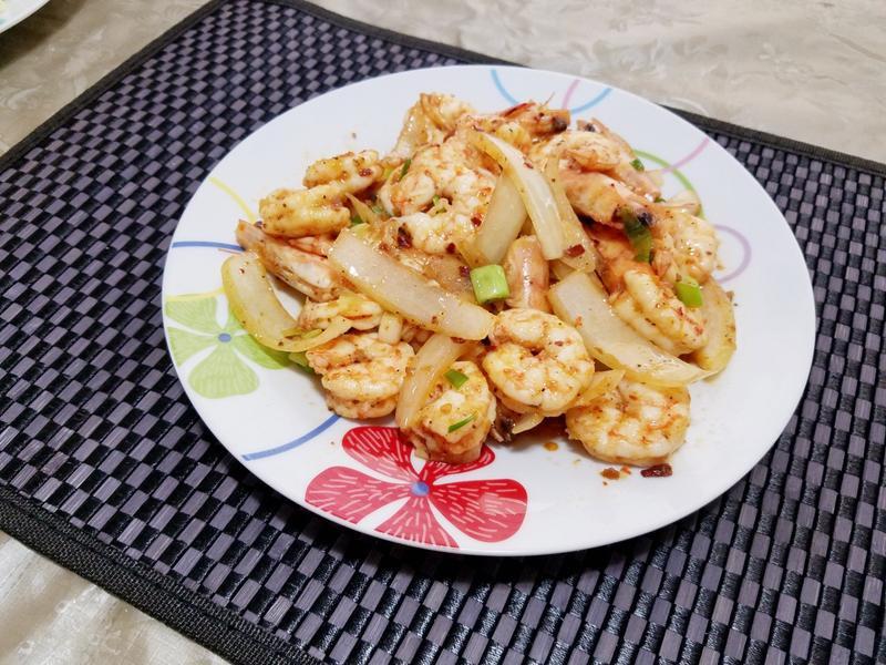 麻辣醬炒鮮蝦