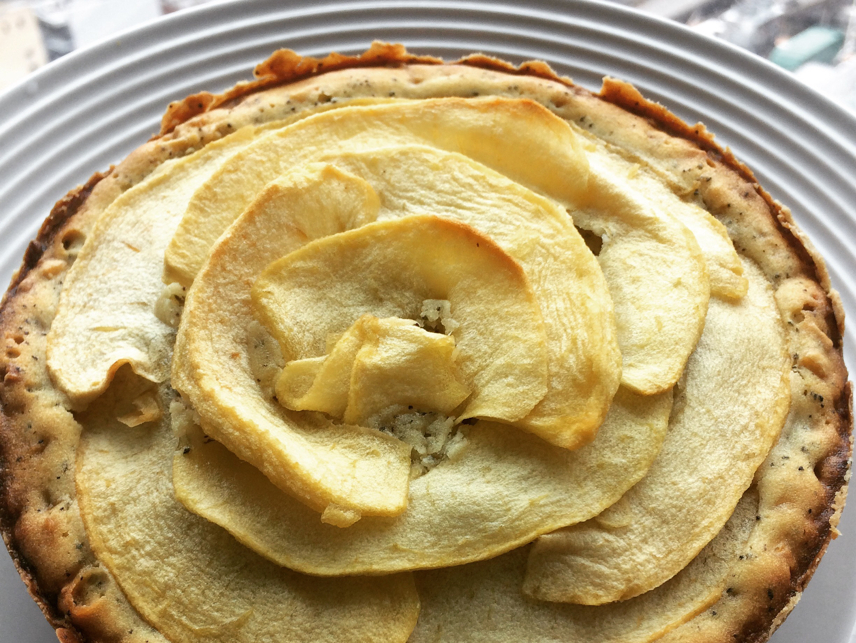 蘋果玫瑰花伯爵茶蛋糕(六吋)