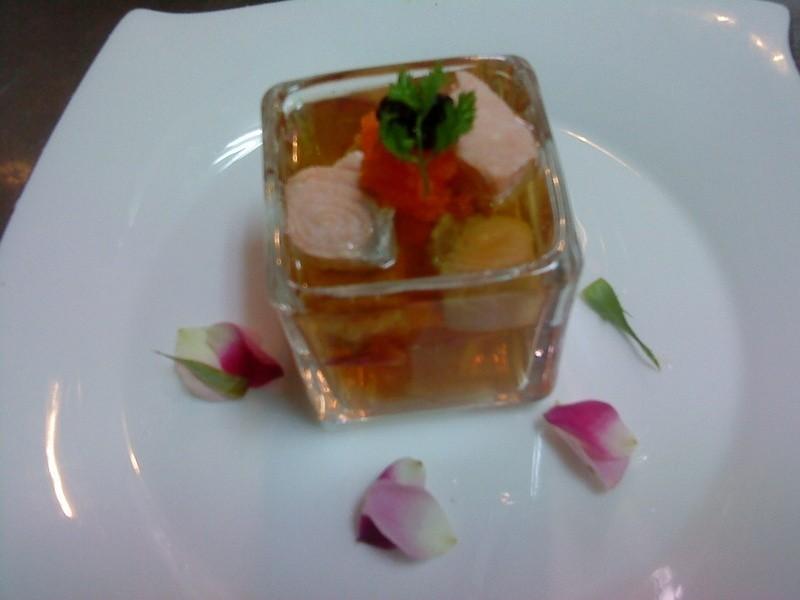 玫瑰花茶鮭魚凍