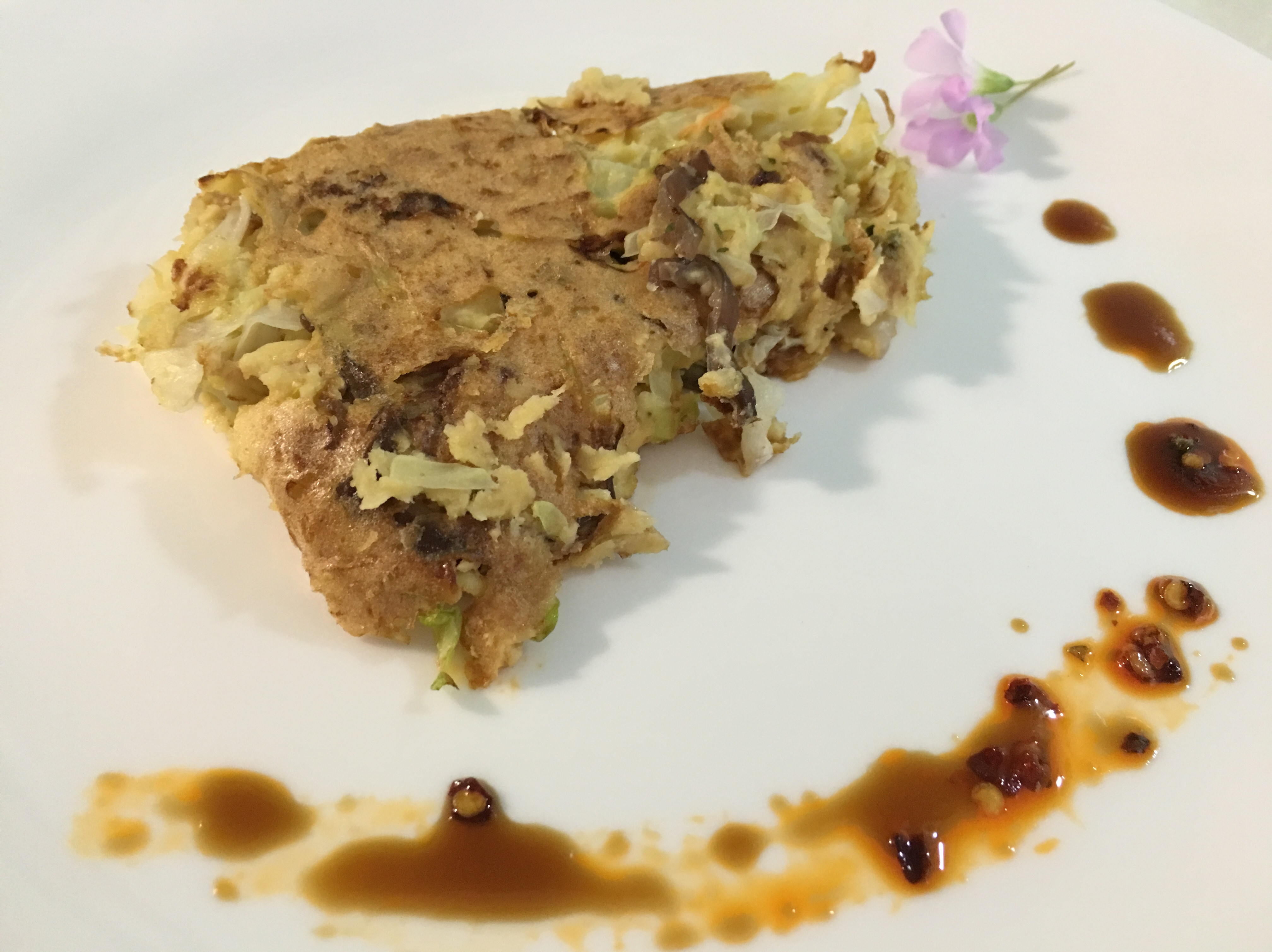 高麗菜豆渣豬肉蔬菜散煎餅(無油)