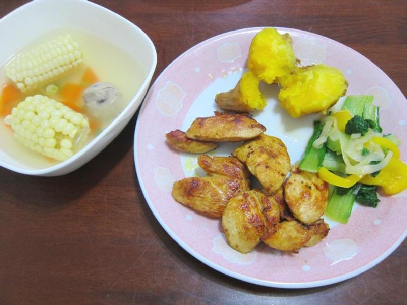 地瓜咖哩雞肉套餐