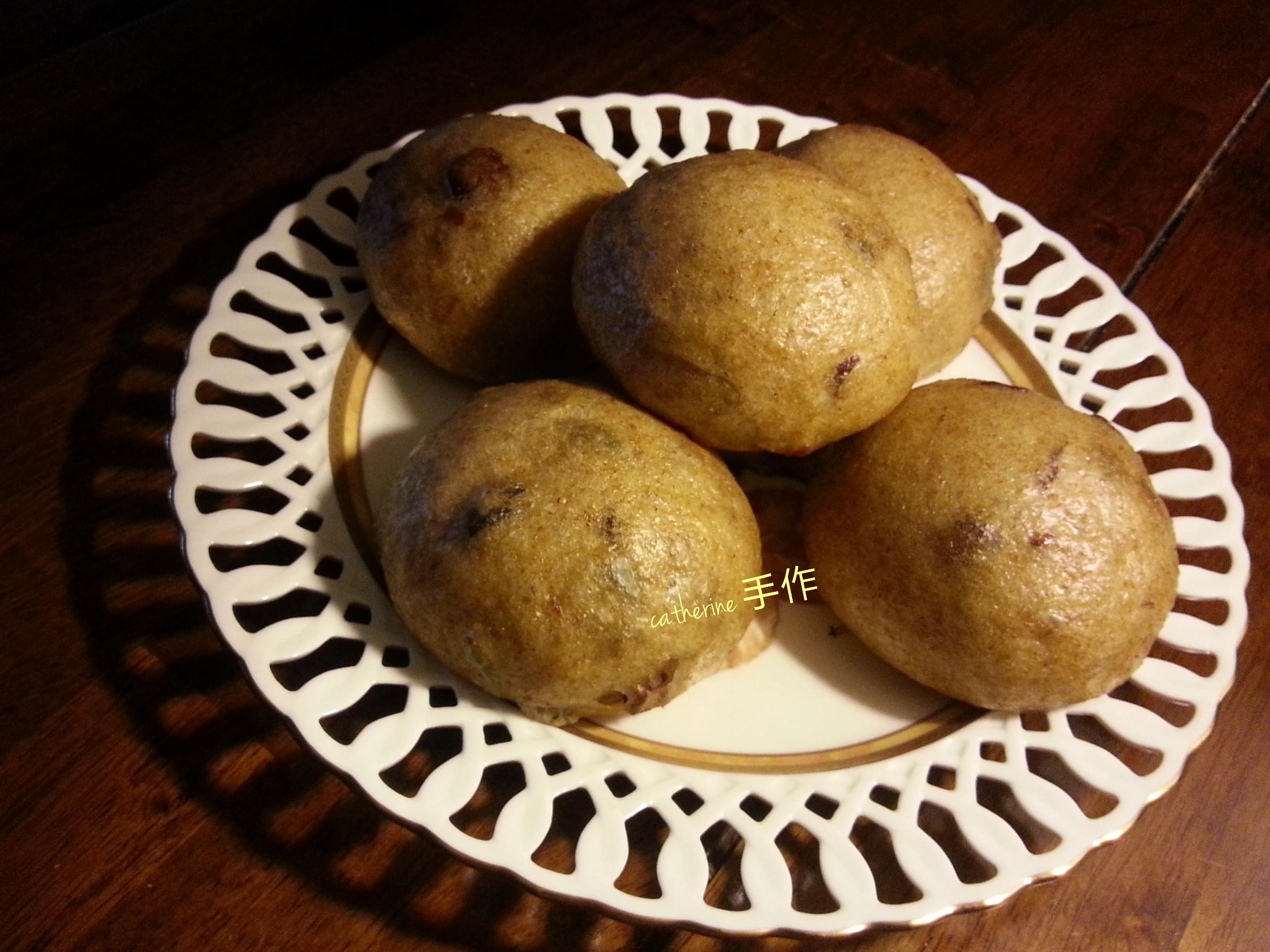 天然酵母裸麥黑糖堅果饅頭