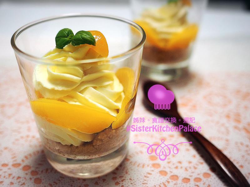 [免烤箱免機器]芒果乳酪蛋糕杯