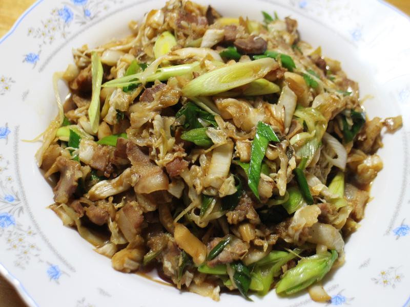 酸白菜炒臘肉
