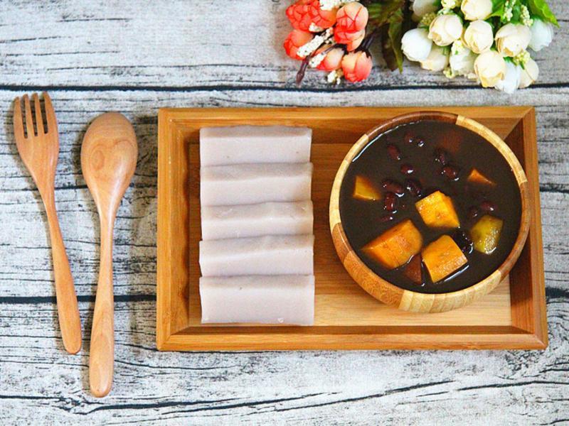 黑糖地瓜紅豆湯+芋頭涼糕~牛頭牌厲害電鍋