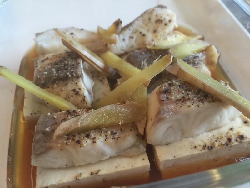💟電鍋料理💟清蒸鯛魚豆腐
