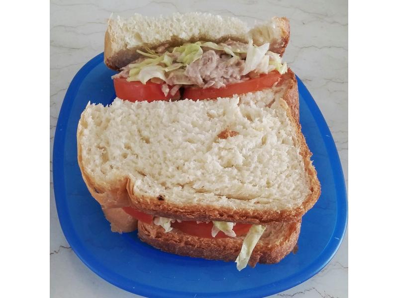 蕃茄生菜吞拿魚三文治