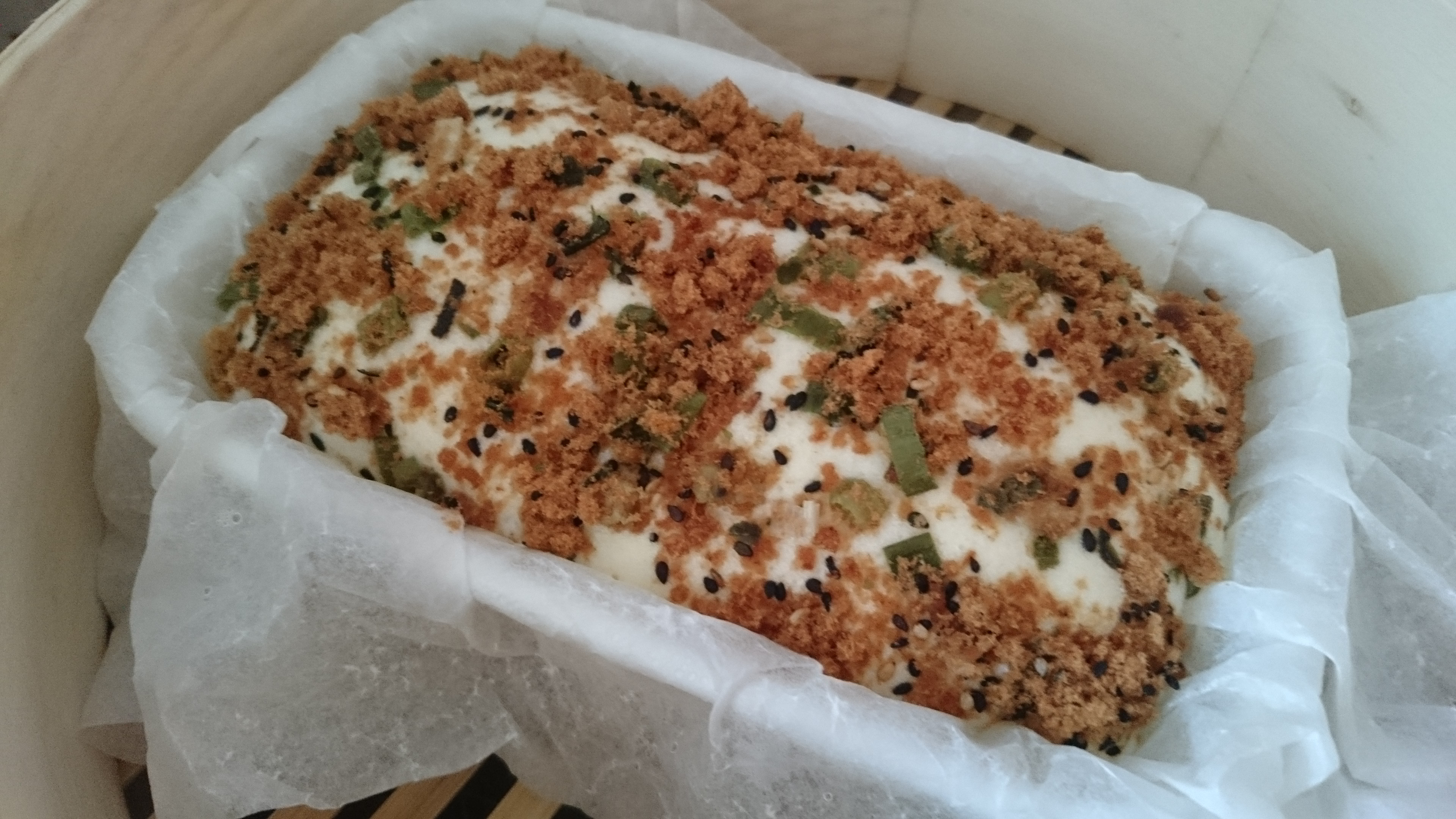 電鍋也可以做的鹹味蒸蛋糕