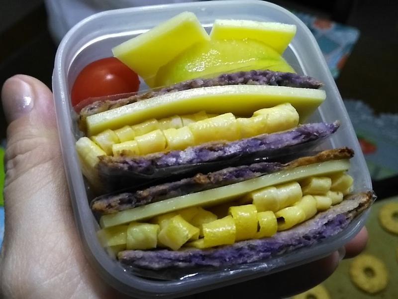 紫包菜菜餅三文治