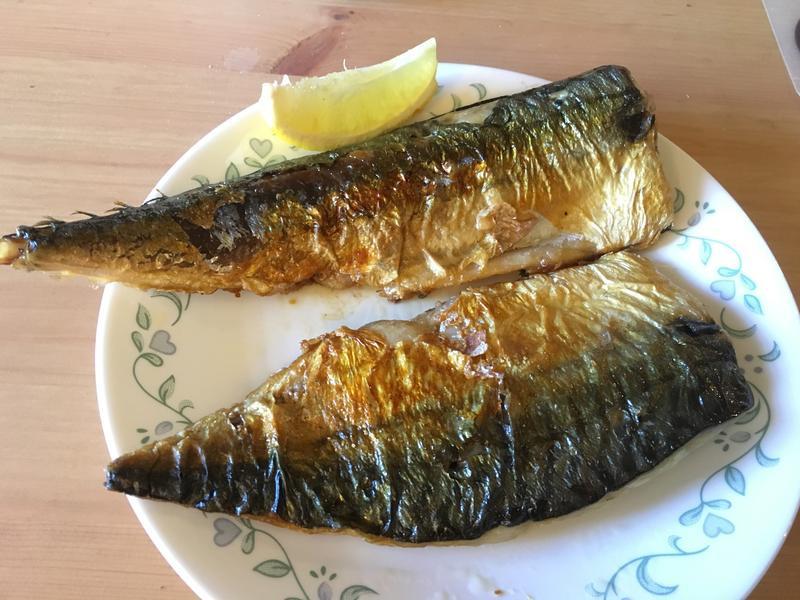香煎薄鹽靖魚
