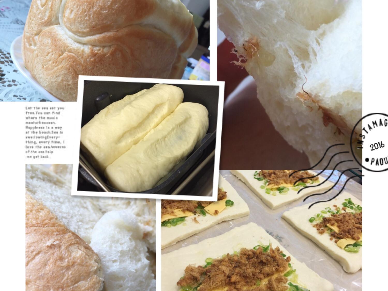 。香蔥起士肉鬆吐司。國際牌製麵包機