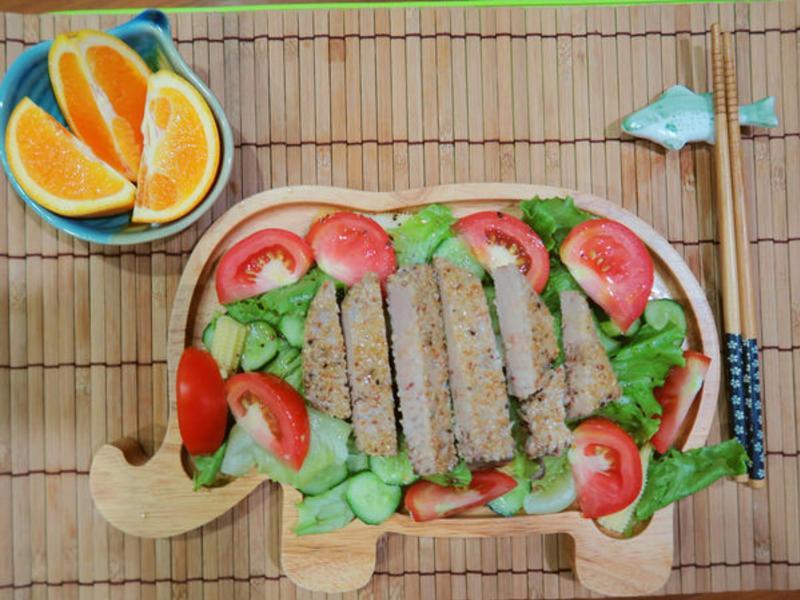 鮪魚排沙拉