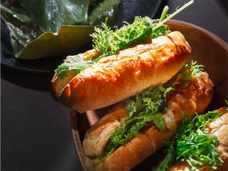 炭烤油漬蔬菜麵包