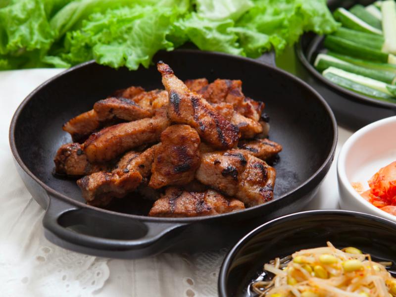 韓式水梨醬烤豬梅花肉排