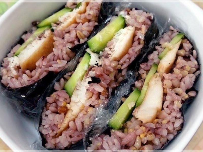 醬燒魚片免捏飯糰〞手殘也能做美觀飯糰系列