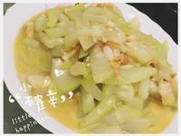 。香炒櫻花蝦瓢瓜。家常料理