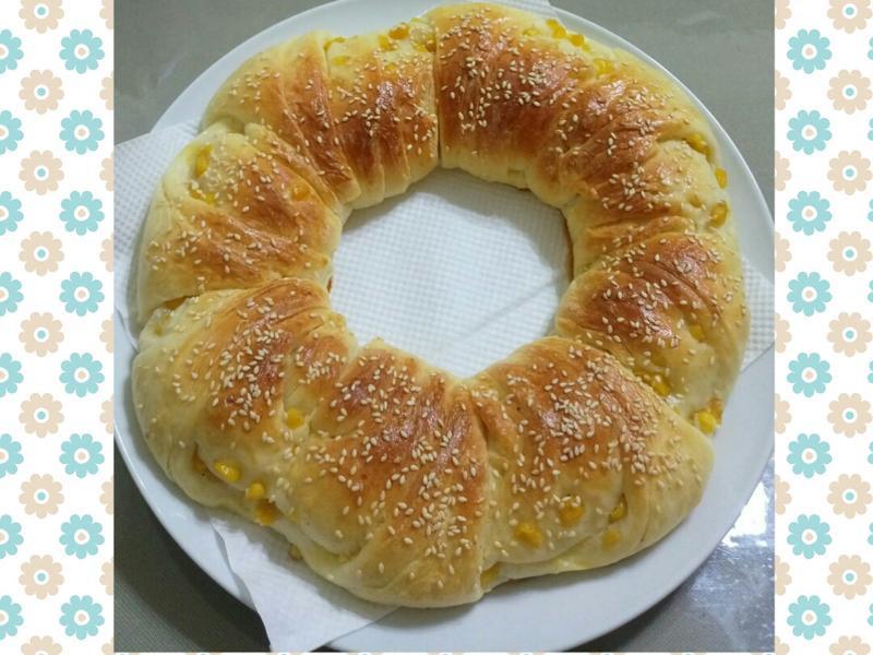 玉米奶油花圈