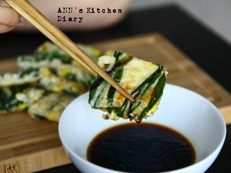 韭菜玉米煎餅