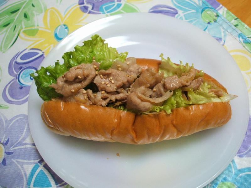 長野家-薑燒肉麵包