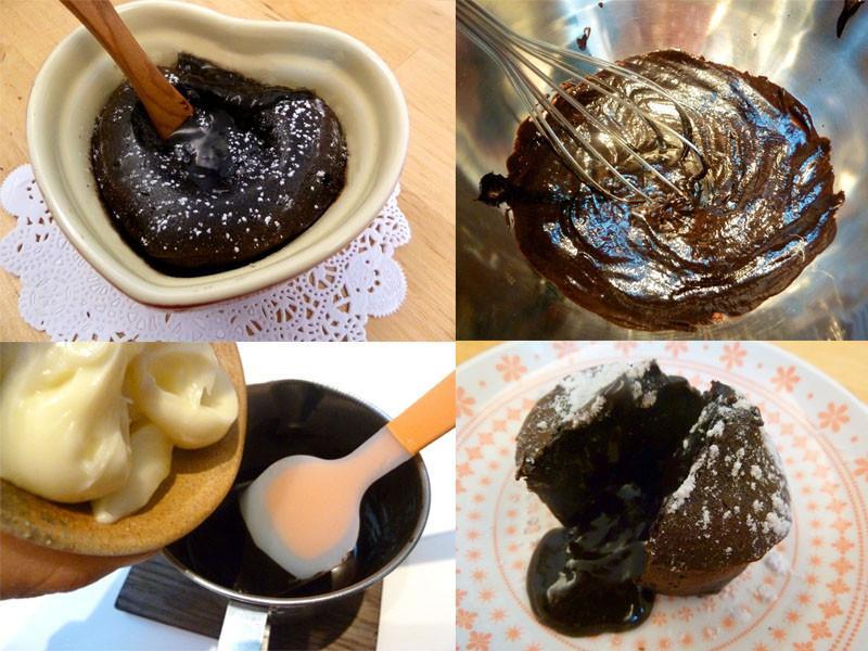《永新沙拉》黑巧克力溶岩蛋糕~美奶滋做的