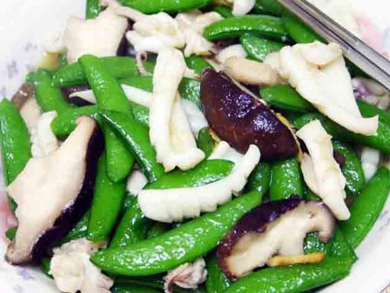 【厚生廚房】甜豆香菇炒花枝