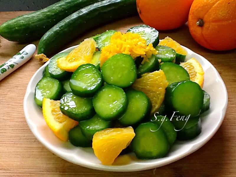 香橙涼拌小黃瓜
