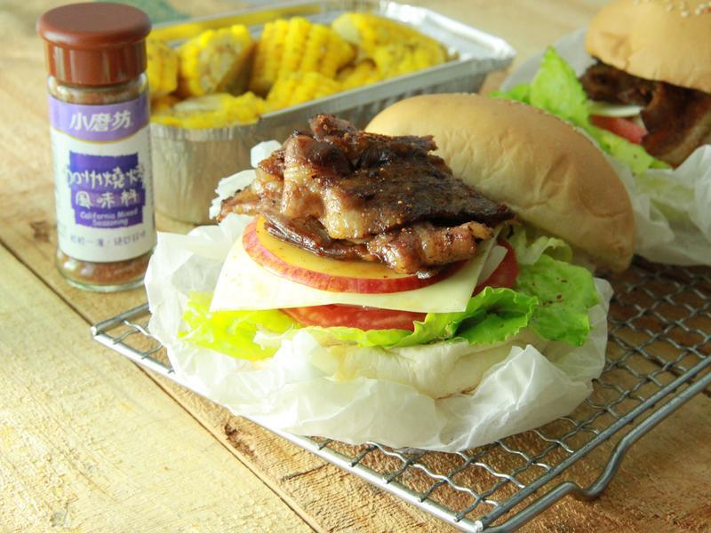 【小磨坊】加州燒烤豬肉漢堡