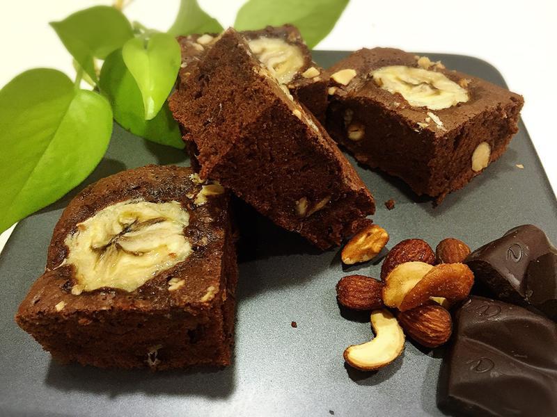 香蕉堅果布朗尼 チョコレートケーキ