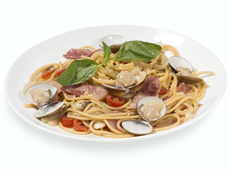 【小磨坊】蔥油蛤蠣培根義大利麵
