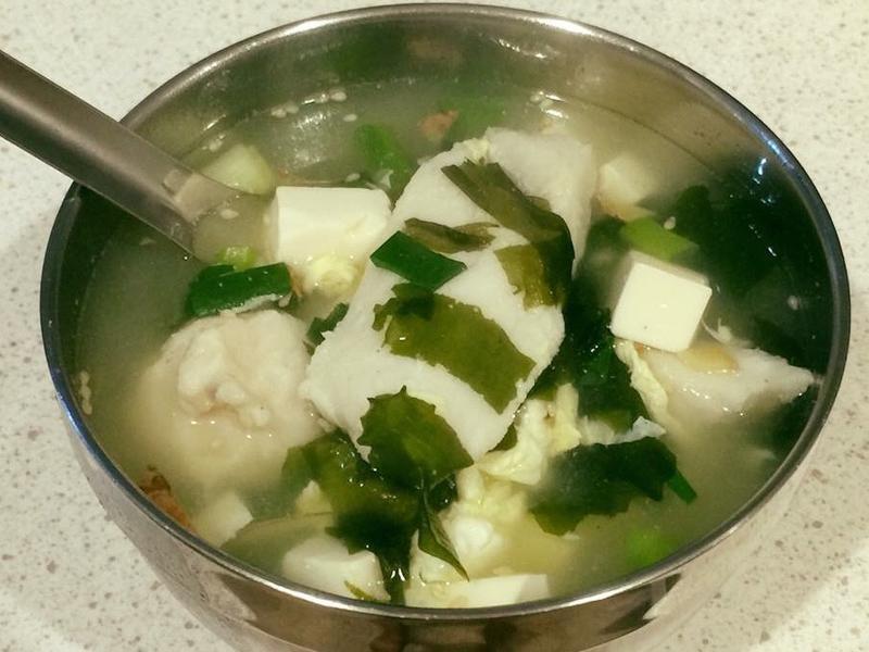 海帶芽鯰魚味增湯