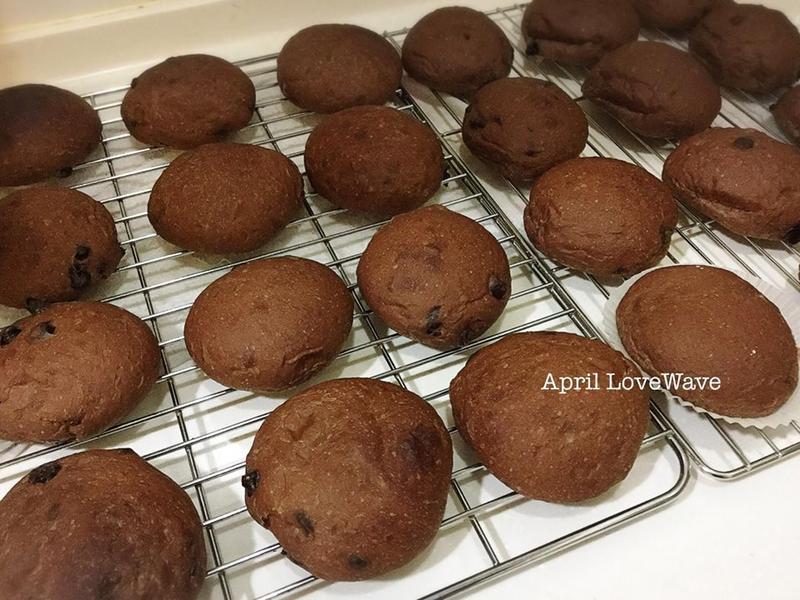 阿華田巧克力豆餐包-米粉湯種+冷藏中種法