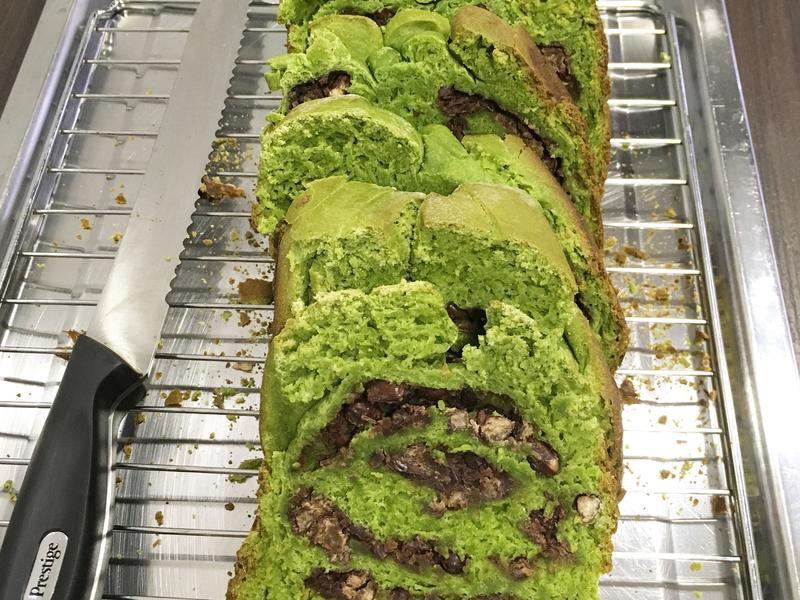 綠茶紅豆麵包 (麵包機食譜)