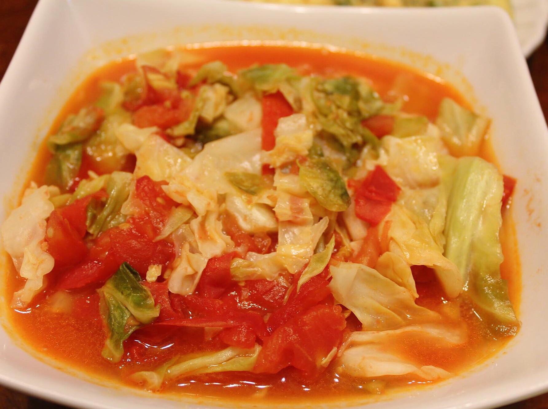 蕃茄炒高麗菜