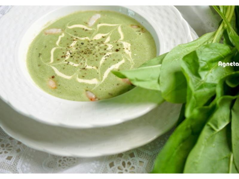 [阿妮塔♥yummy] 蟹肉菠菜濃湯。