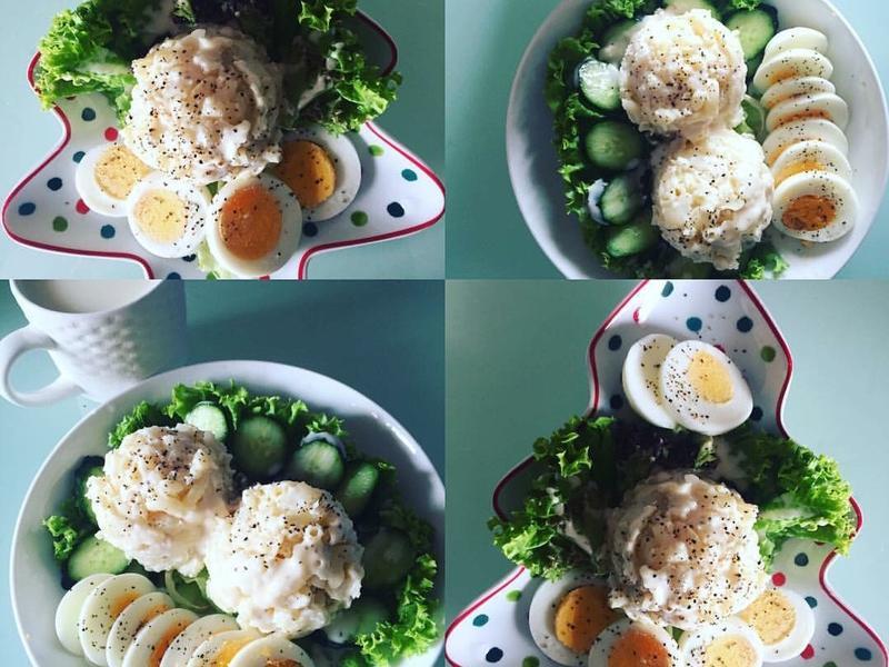 日式馬鈴薯空心粉沙拉-美味早餐❤️