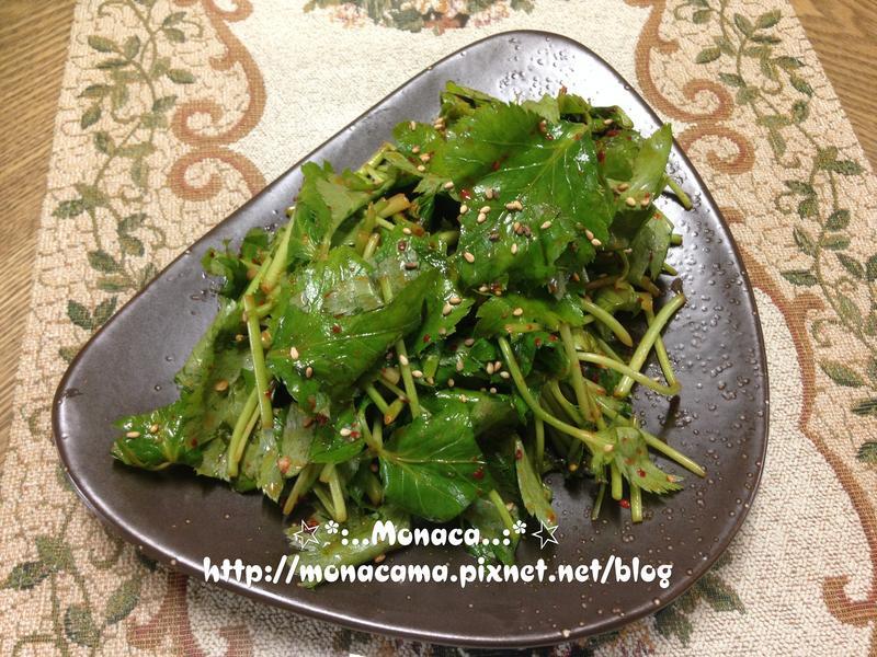 韓式涼拌茴芹참나물겉절이