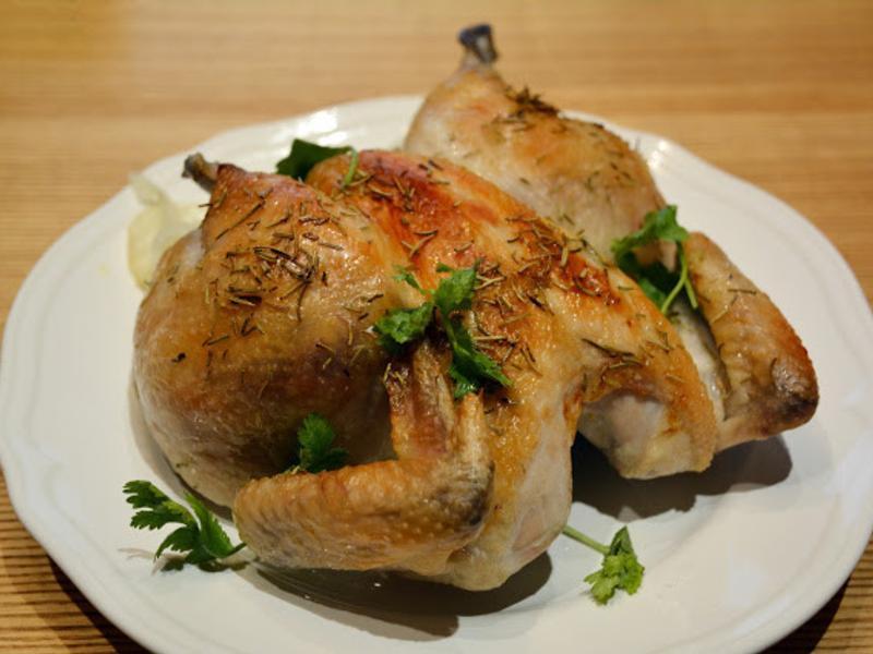 簡易版快速烤全雞。迷迭香烤雞