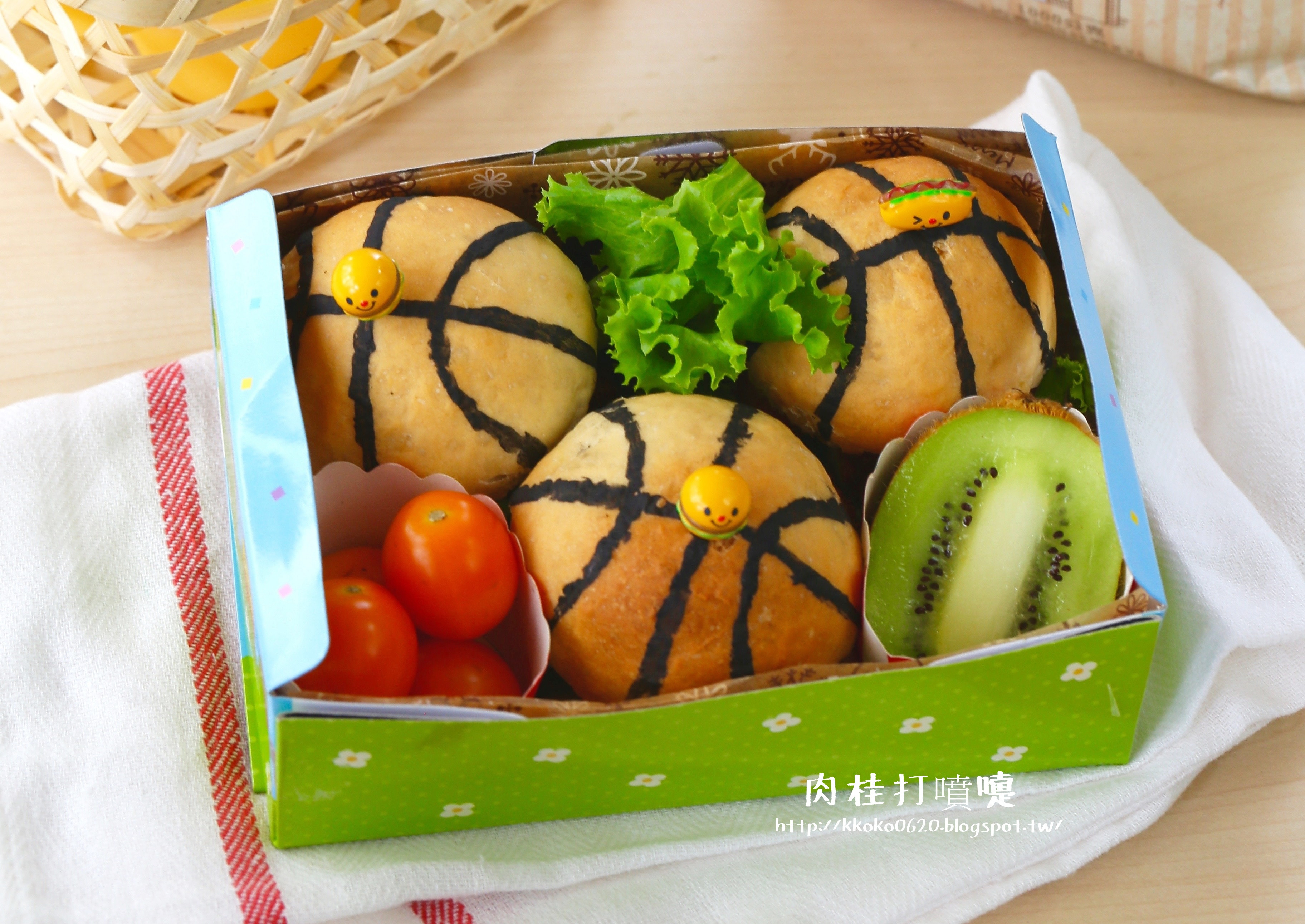 籃球造型小漢堡【麥典麵包專用粉】