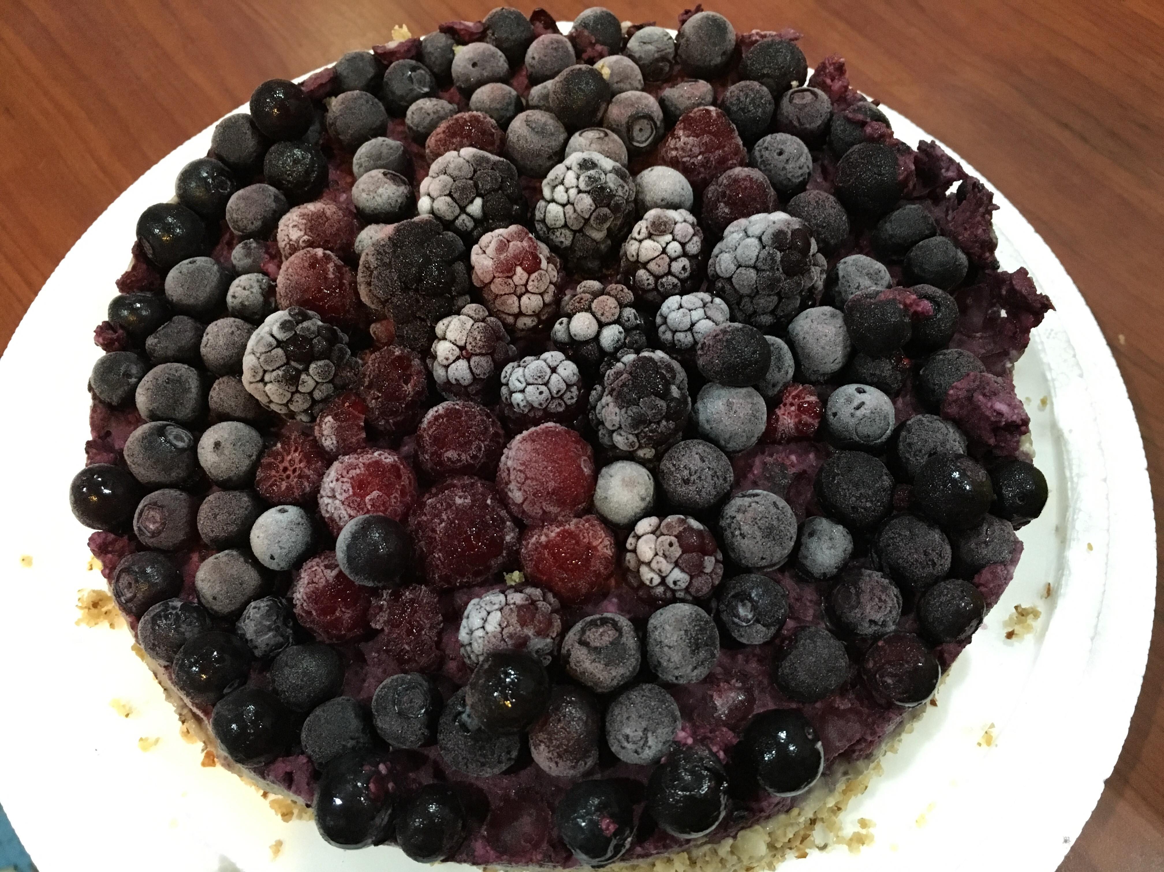 免烤箱的莓果蛋糕(無奶蛋)