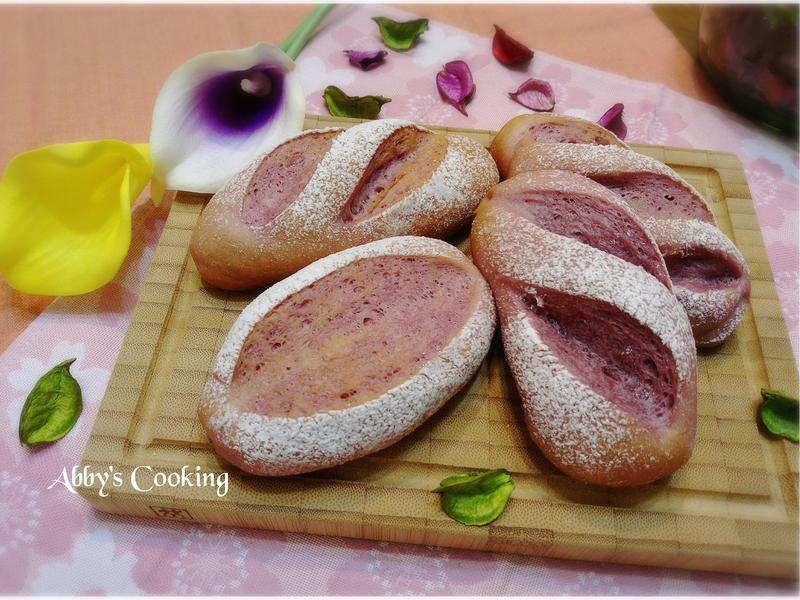 紫薯奶油軟法麵包