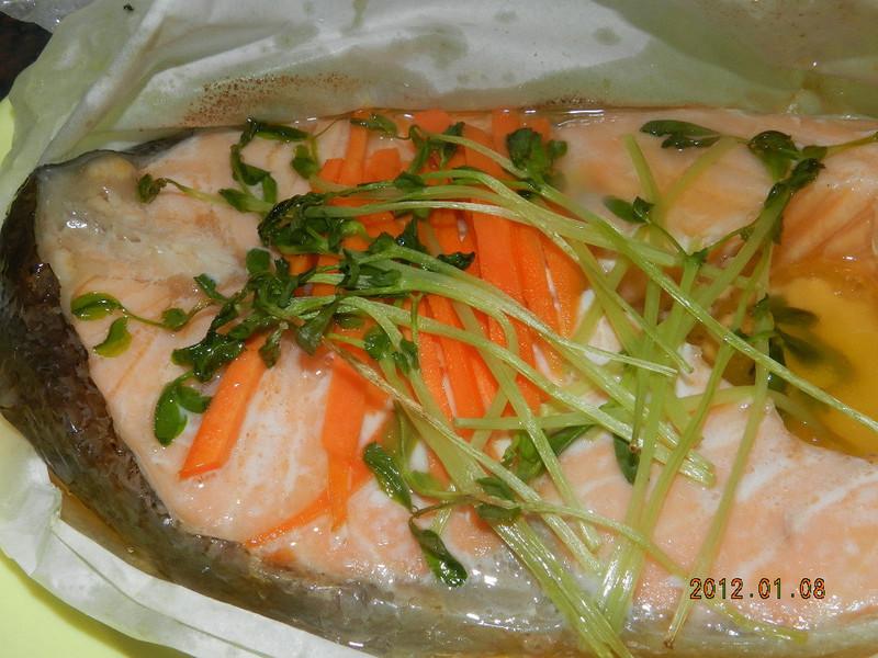 ㄚ曼達的廚房~紙包鮭魚(氣炸鍋)